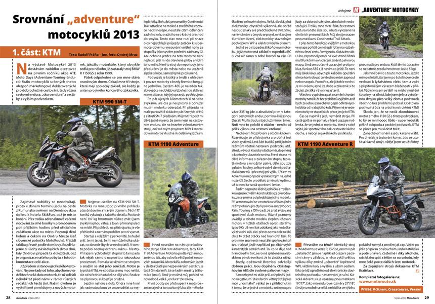 Test KTM 2013