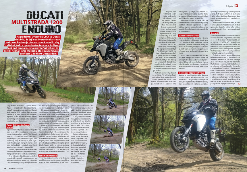 Test Ducati Multistrada Enduro offroad