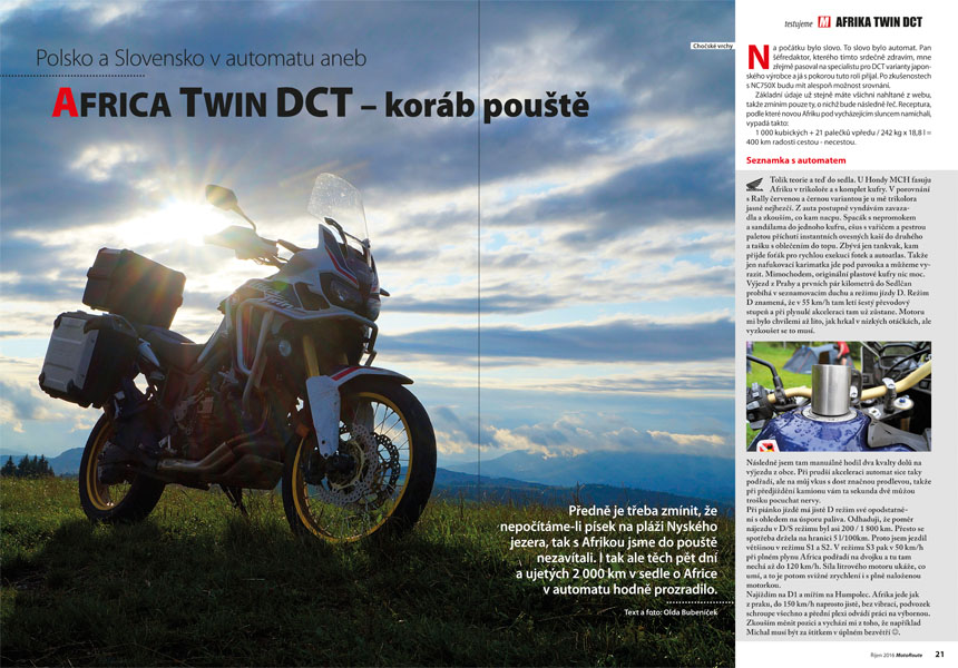 Test: Honda Africa Twin DCT