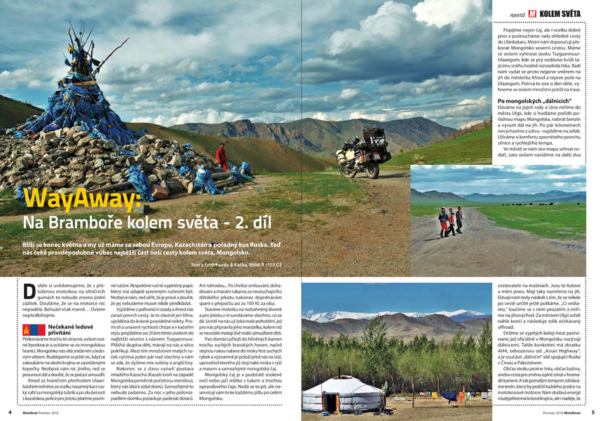 WayAway: Na motorce kolem sveta