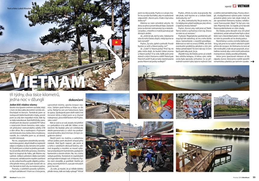 Vietnam na motorce