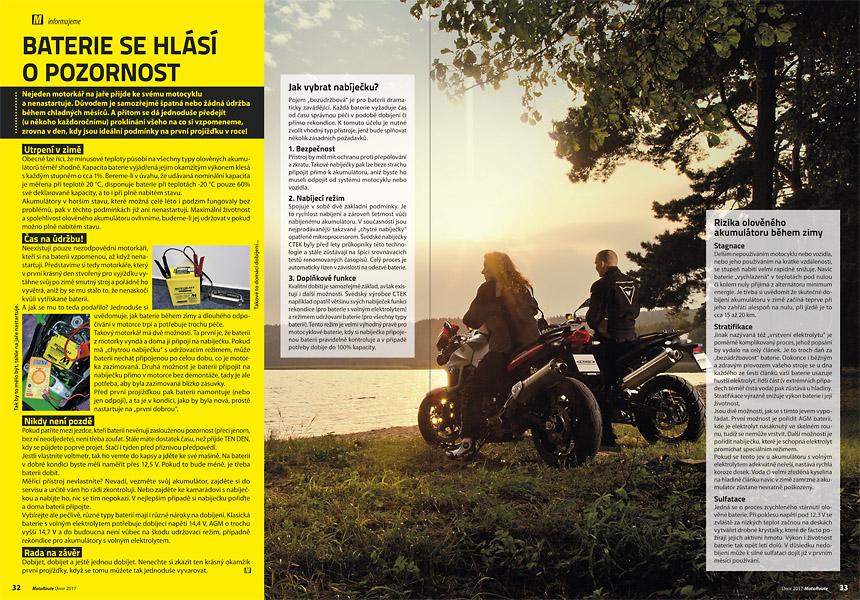 Jak udržovat baterii na motorce