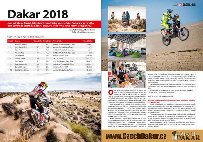 Reportáž z rally Dakar 2018