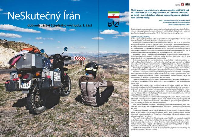 Írán na motorce