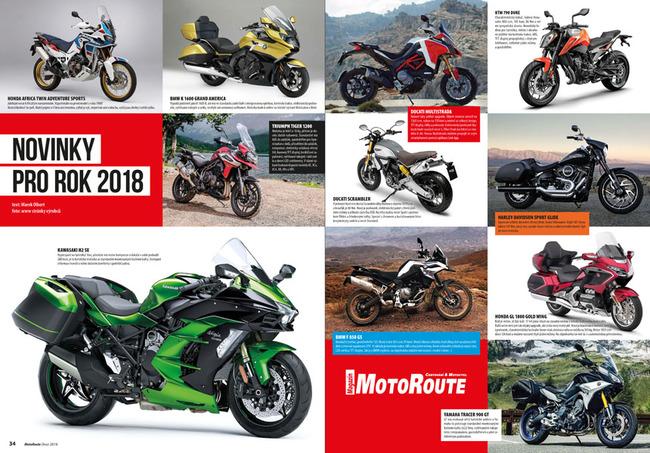 Motocyklové novinky pro rok 2018