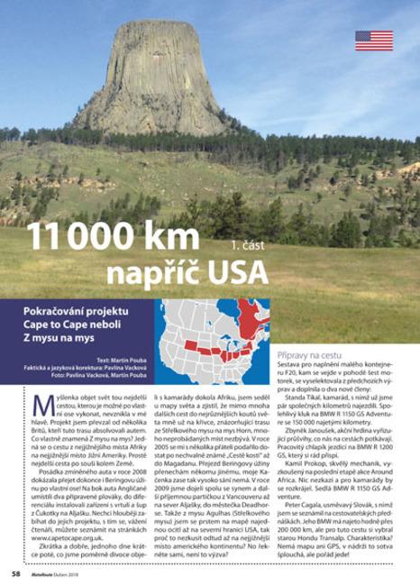11 000 km napříč USA