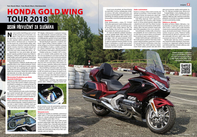 Test Honda Gold Wing