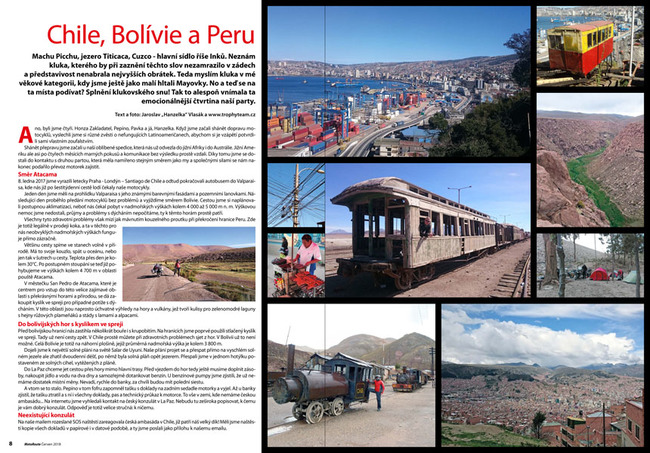 Chile, Bolívie a Peru