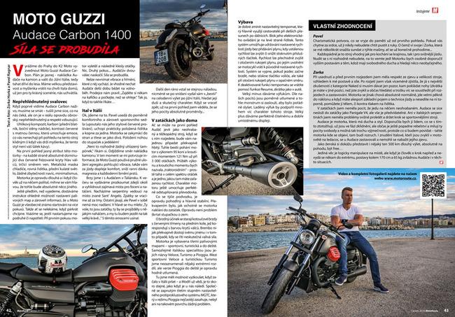 Test Moto Guzzi Audace Carbon