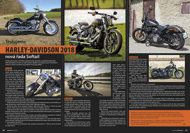 Test Harley-Davidson Fat Boy, Breakout a Street Bob