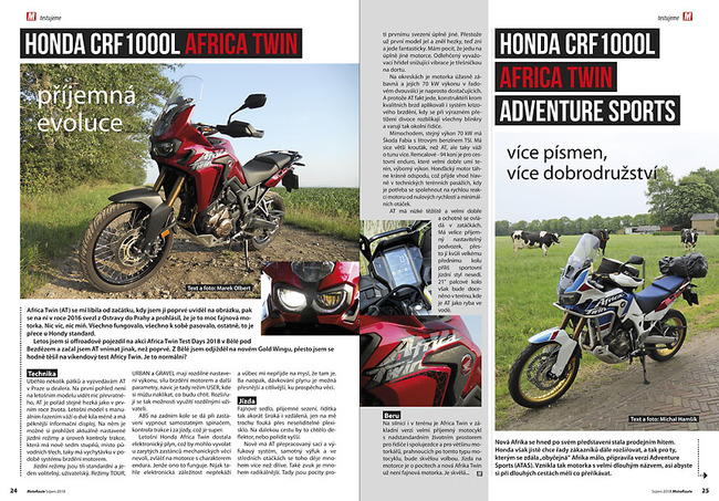 Test Honda CRF1000L Africa Twin & Africa Twin Adventure Sports