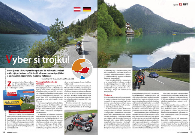 Alpy na motorce