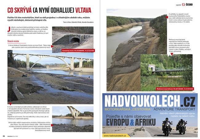 Vypuštěná přehrada Orlík