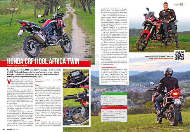 Test Honda CRF1100L Africa Twin