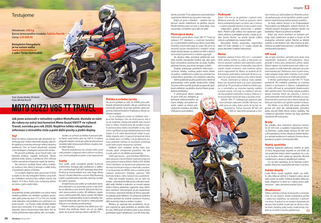 Test Moto Guzzi V85 TT Travel