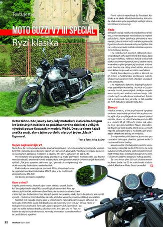 Test Moto Guzzi V7 III Special
