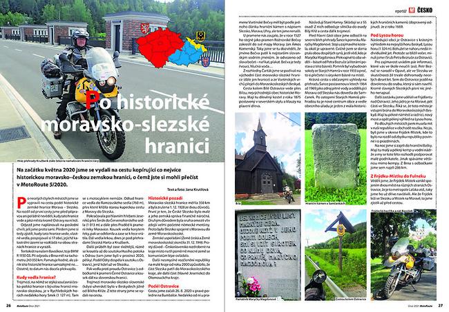 Po historické moravsko-slezské hranici