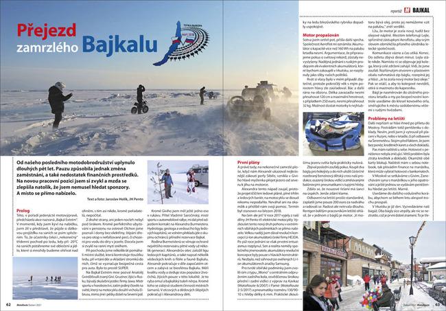 Přejezd zamrzlého Bajkalu