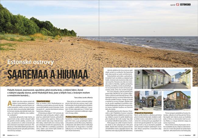 Estonské ostrovy Saaremaa a Hiiumaa