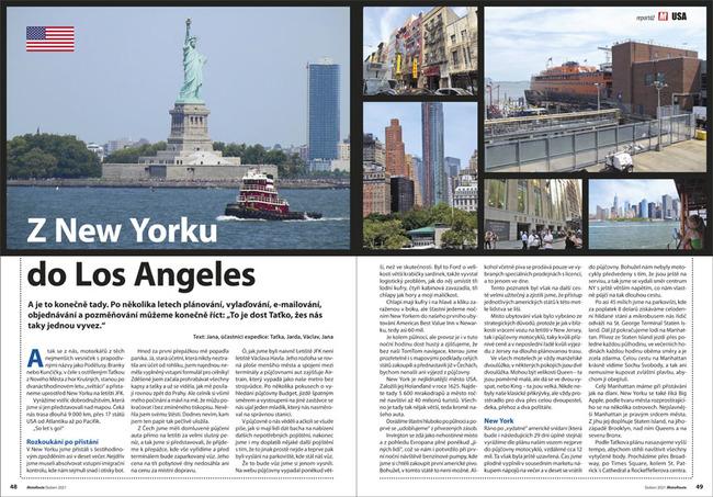 Z New Yorku do Los Angeles
